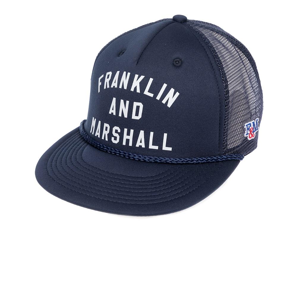 FRANKLIN & MARSHALL - Καπέλο τζόκεϋ Franklin & Marshall μπλε γυναικεία αξεσουάρ καπέλα αθλητικά
