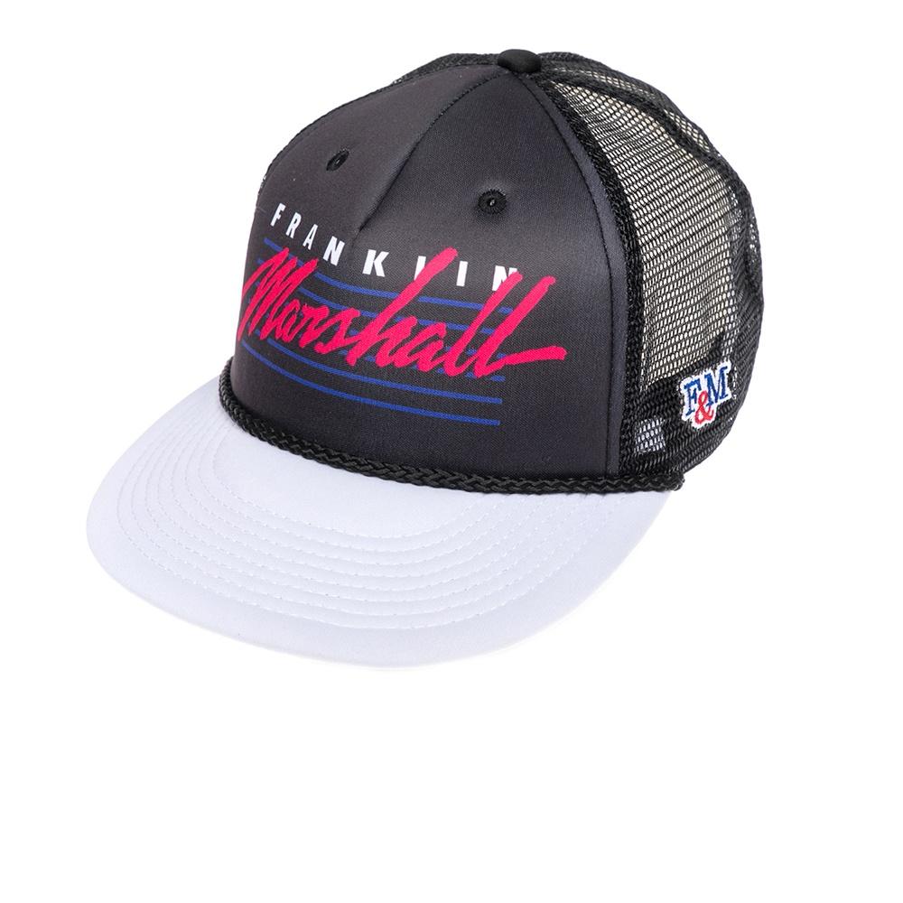 FRANKLIN & MARSHALL - Καπέλο τζόκεϋ Franklin & Marshall μαύρο-λευκό γυναικεία αξεσουάρ καπέλα αθλητικά