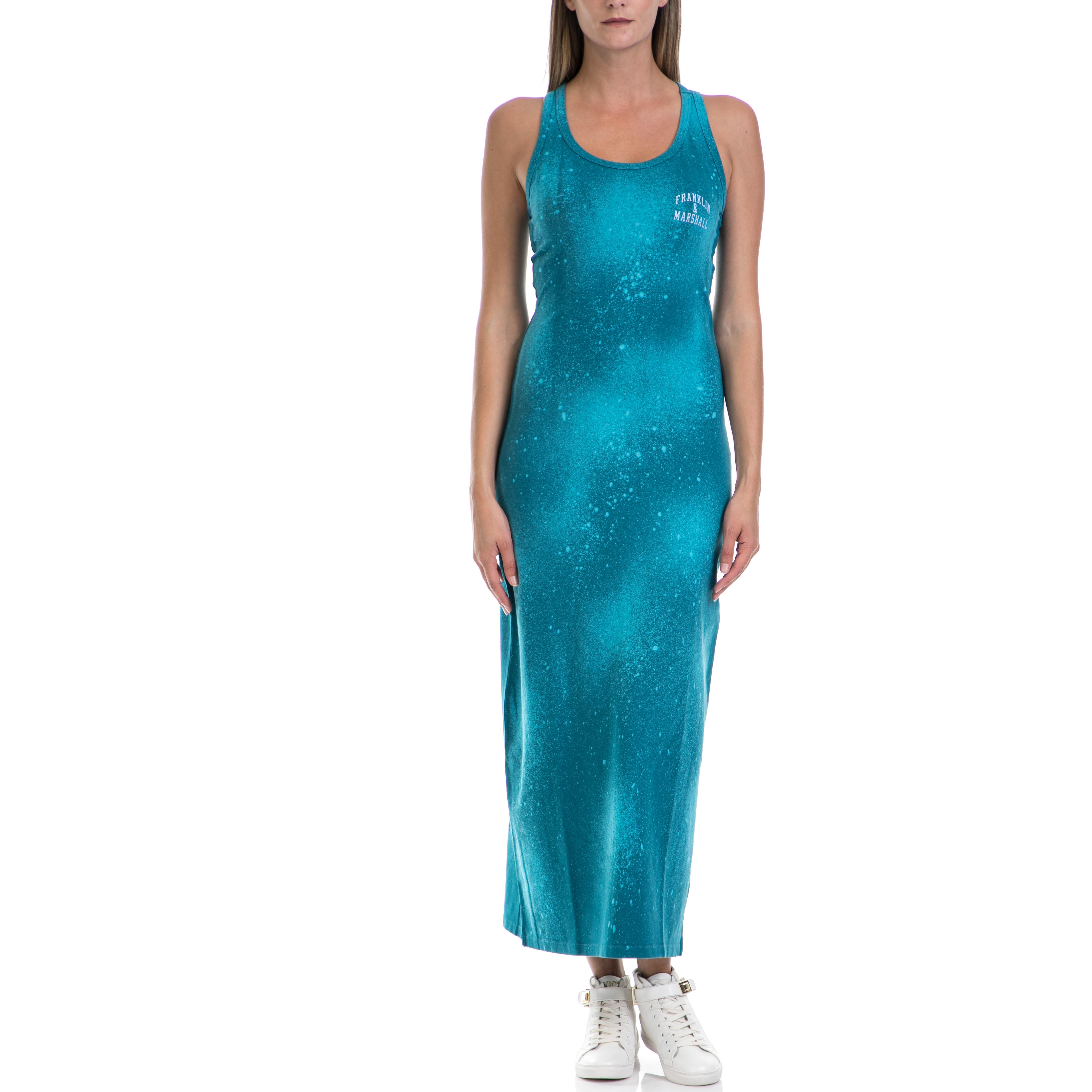 f00ff14ffe91 FRANKLIN   MARSHALL - Γυναικείο φόρεμα Franklin   Marshall μπλε-πράσινο