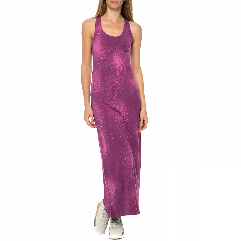 FRANKLIN & MARSHALL - Γυναικείο φόρεμα Franklin & Marshall μωβ γυναικεία ρούχα φορέματα μάξι