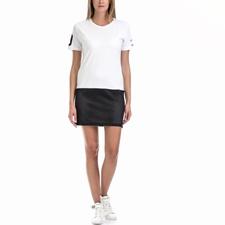 FRANKLIN & MARSHALL-Γυναικείο φόρεμα Franklin & Marshall λευκό-μαύρο