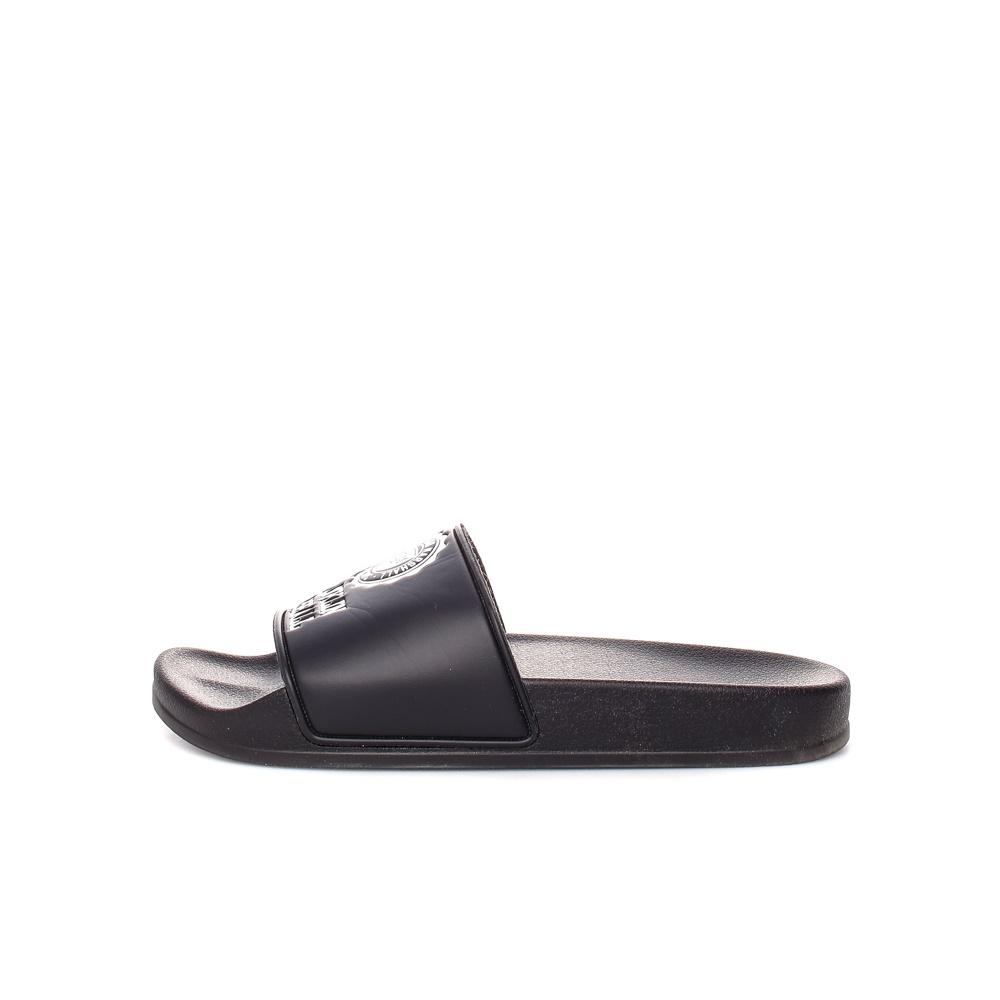 FRANKLIN & MARSHALL - Σαγιονάρες Franklin & Marshall μαύρες γυναικεία παπούτσια παντόφλες
