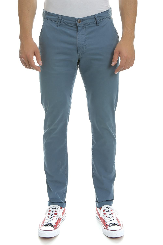 FRANKLIN & MARSHALL - Ανδρικό παντελόνι Franklin & Marshall μπλε ανδρικά ρούχα παντελόνια chinos