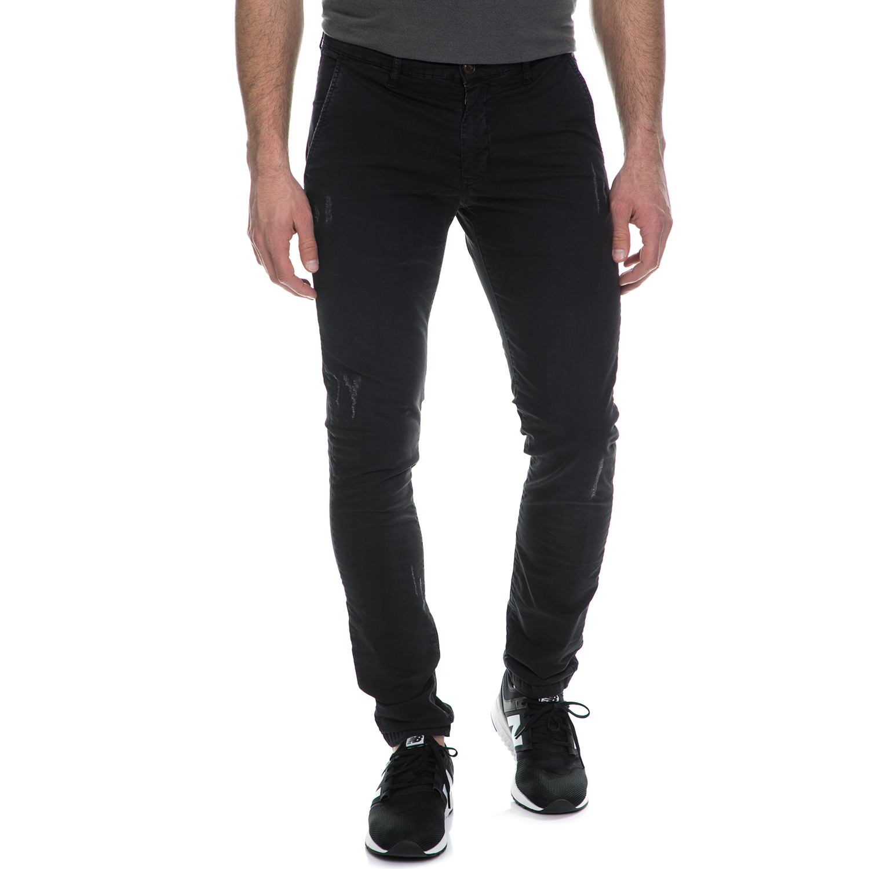 FRANKLIN & MARSHALL - Ανδρικό chino παντελόνι FRANKLIN & MARSHALL μαύρο ανδρικά ρούχα παντελόνια chinos