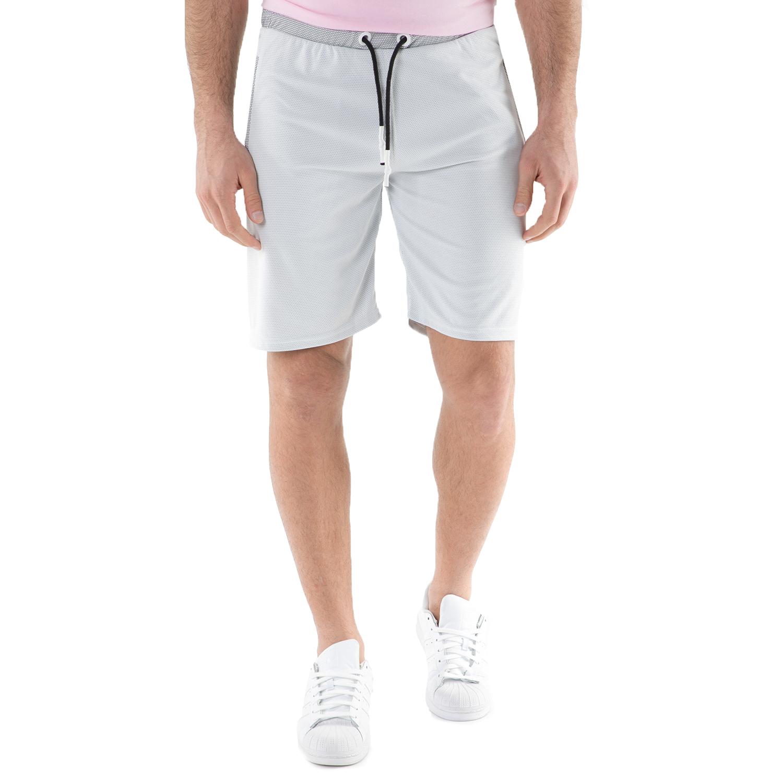 FRANKLIN & MARSHALL - Ανδρική βερμούδα FRANKLIN & MARSHALL γκρι ανδρικά ρούχα σορτς βερμούδες casual jean