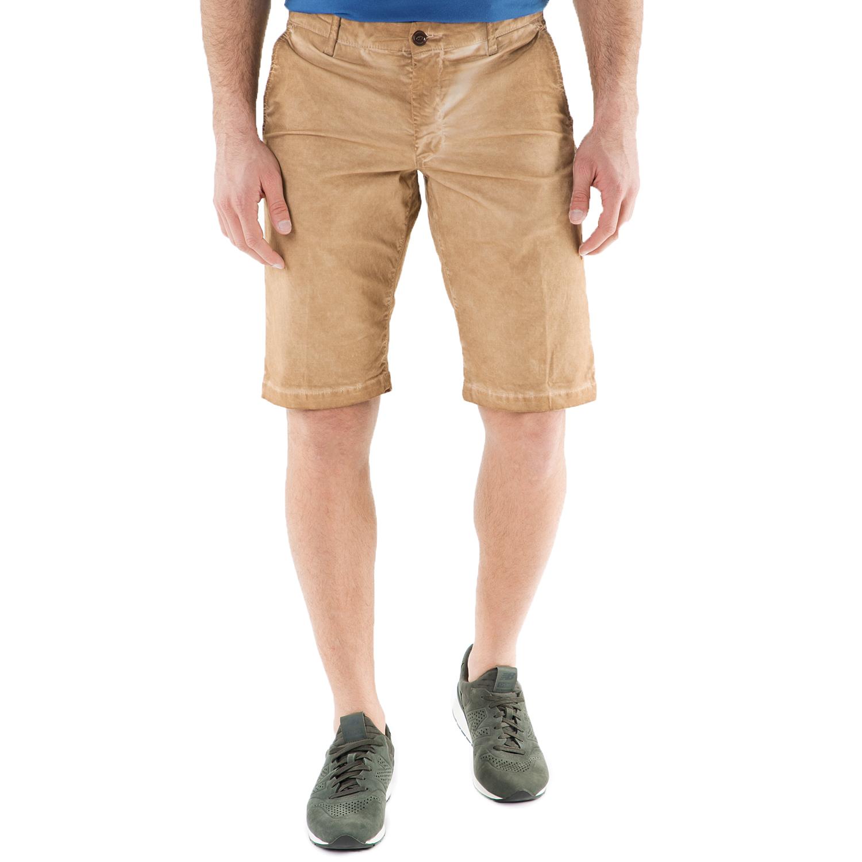 FRANKLIN & MARSHALL - Ανδρική chino βερμούδα FRANKLIN & MARSHALL μπεζ ανδρικά ρούχα σορτς βερμούδες casual jean