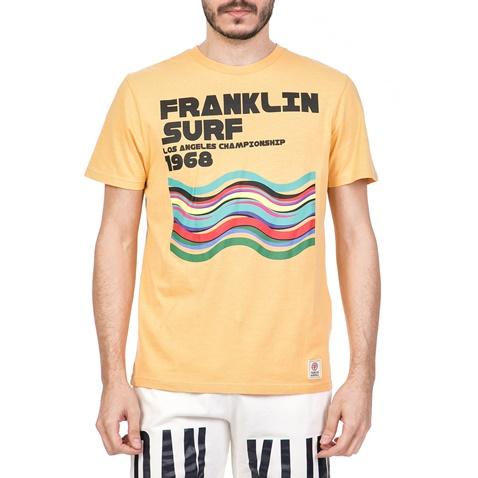 4a1eb77ded7d FRANKLIN   MARSHALL-Ανδρική κοντομάνικη μπλούζα με στάμπα FRANKLIN    MARSHALL κίτρινη