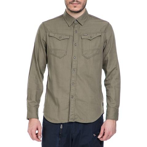 bf86bab358fd Ανδρικό μακρυμάνικο πουκάμισο G-Star Raw Arc 3D χακί (1521716.0-x2x1 ...