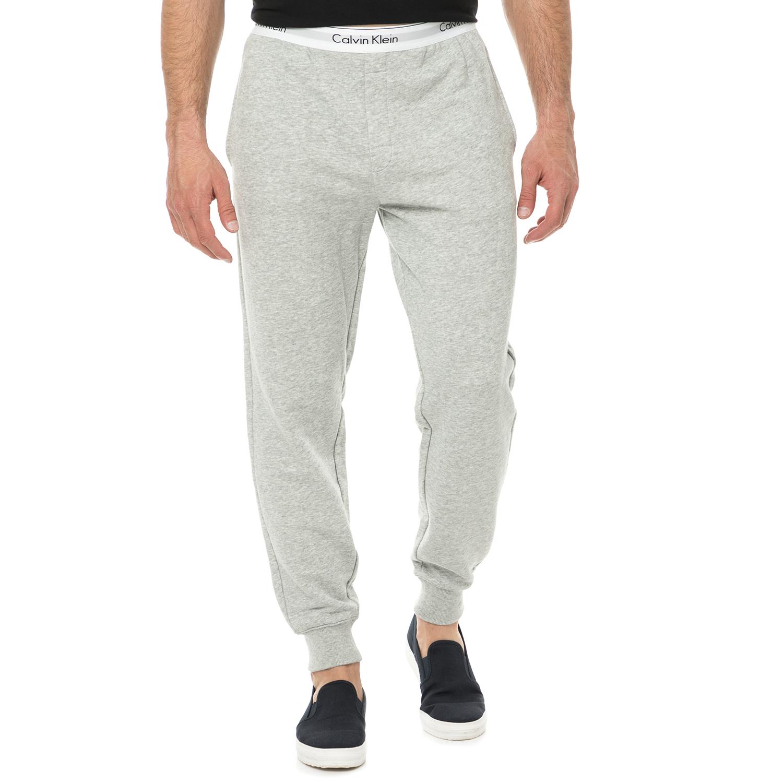 CK UNDERWEAR - Ανδρικό παντελόνι πιτζάμας JOGGER CK UNDERWEAR γκρι ανοιχτό ανδρικά ρούχα εσώρουχα πυτζάμες ρόμπες