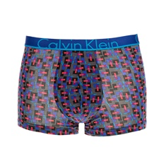 CK UNDERWEAR-Ανδρικό εσώρουχο μπόξερ CK Underwear TRUNK μπλε με print