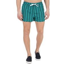 CK UNDERWEAR-Ανδρικό μαγιό σορτς SHORT DOUBLE WAISTBAND CK Underwear πράσινο-μαύρο