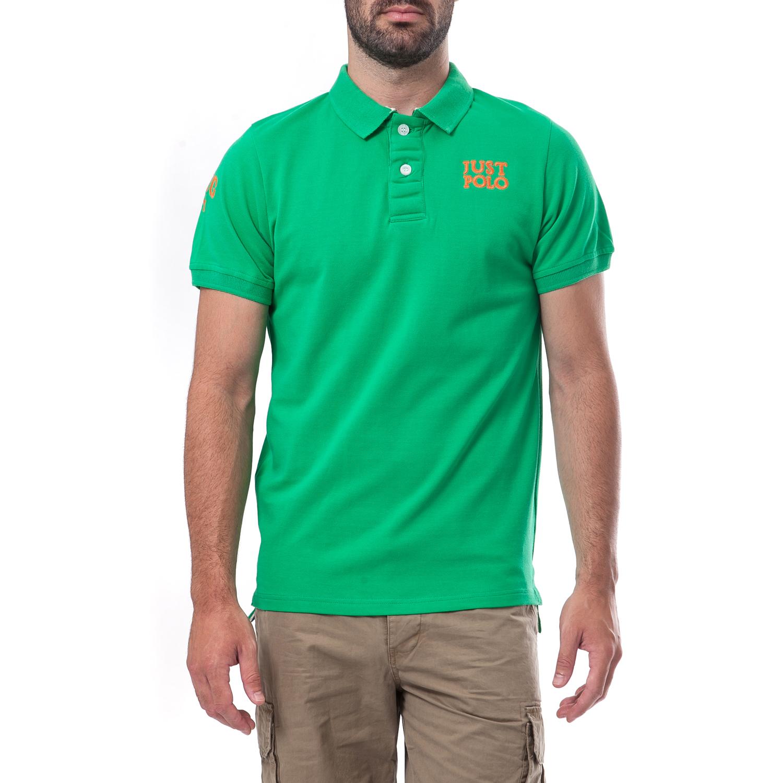 -50% JUST POLO – Ανδρική μπλούζα Just Polo πράσινη 5c05543021f