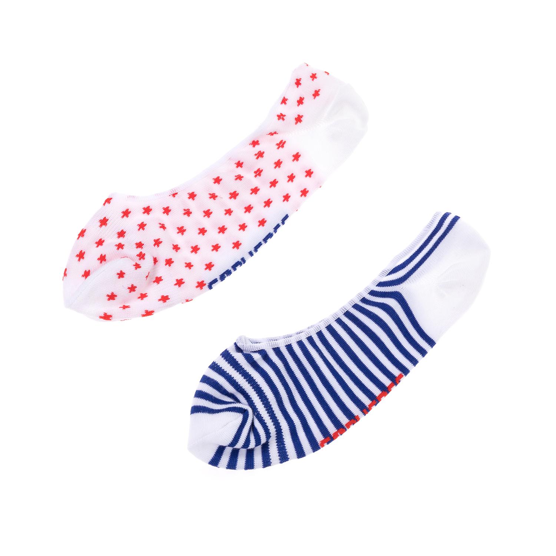 CONVERSE - Ανδρικό σετ κάλτσες CONVERSE κόκκινες-μπλε-άσπρες