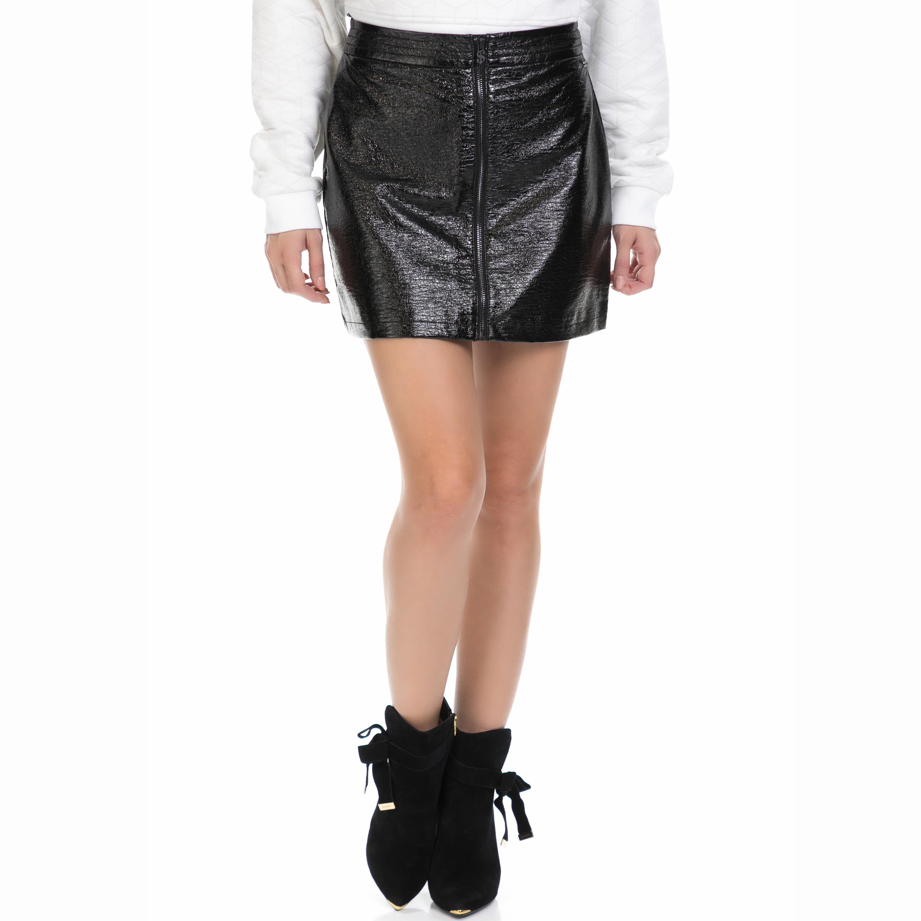 ANDY WARHOL - Γυναικεία μίνι φούστα ANDY WARHOL STUDIO μαύρη γυναικεία ρούχα φούστες μίνι