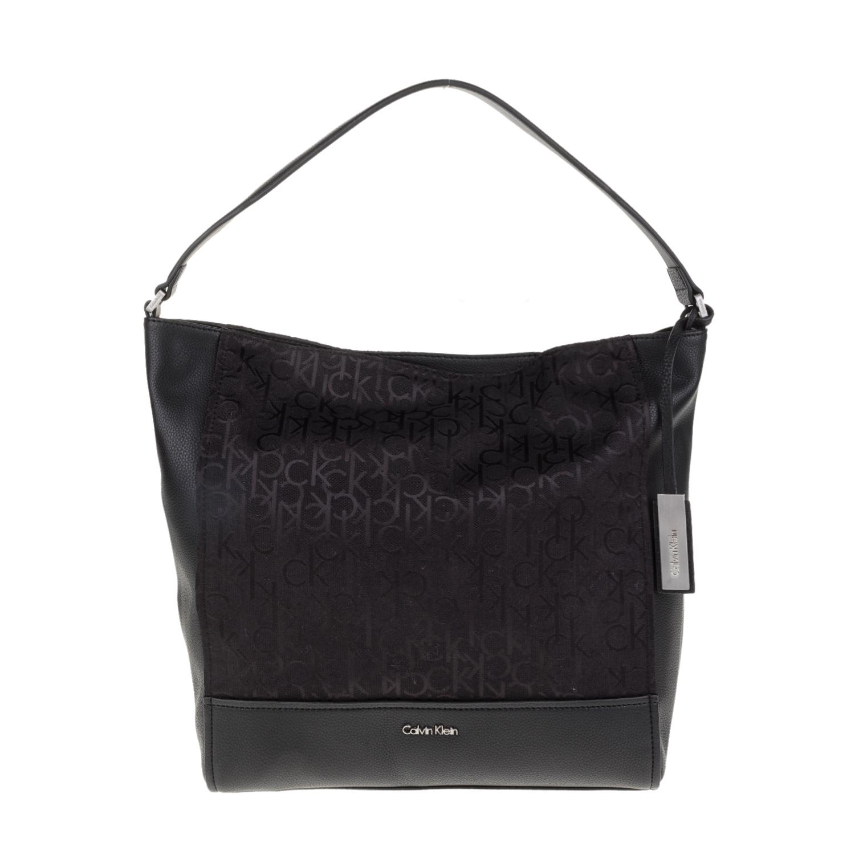 657e64ef08 CALVIN KLEIN JEANS - Γυναικεία τσάντα ώμου MARIN4 LOGO HOBO Calvin Klein  Jeans μαύρη