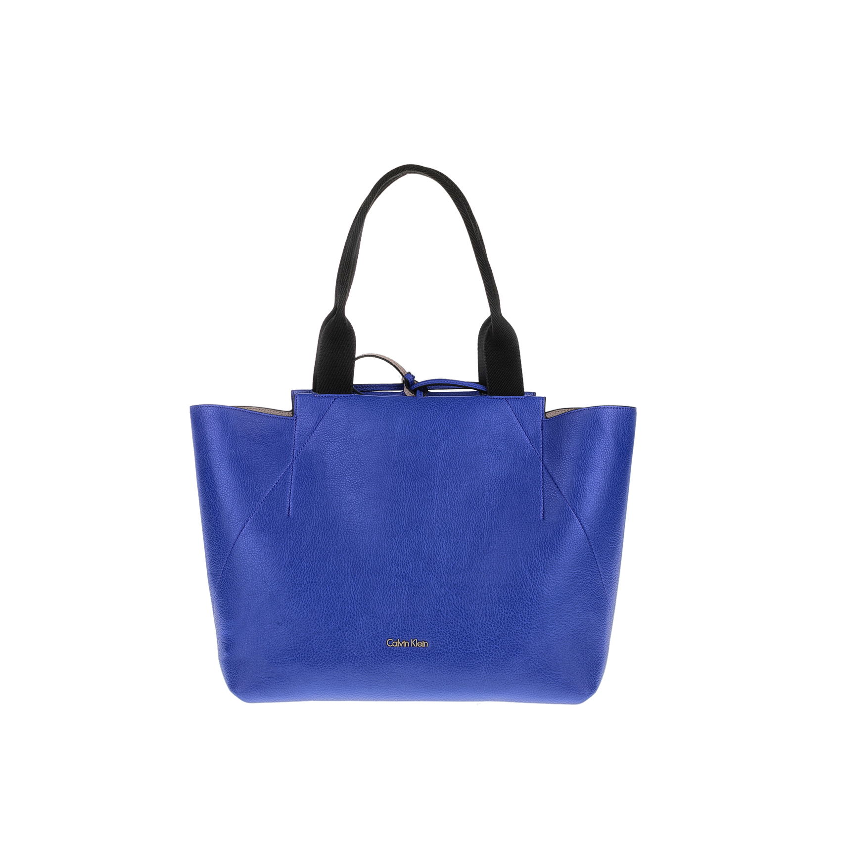 CALVIN KLEIN JEANS - Γυναικέια τσάντα CALVIN KLEIN JEANS IS4 LARGE μπεζ-μπλε γυναικεία αξεσουάρ τσάντες σακίδια χειρός