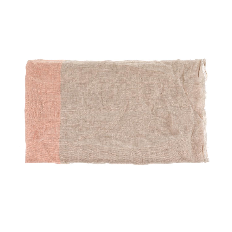 CALVIN KLEIN JEANS - Γυναικείο φουλάρι Calvin Klein Jeans μπεζ-ροζ γυναικεία αξεσουάρ φουλάρια κασκόλ γάντια
