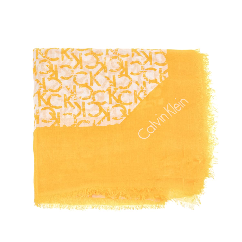 CALVIN KLEIN JEANS - Γυναικείο φουλάρι Calvin Klein Jeans κίτρινο γυναικεία αξεσουάρ φουλάρια κασκόλ γάντια