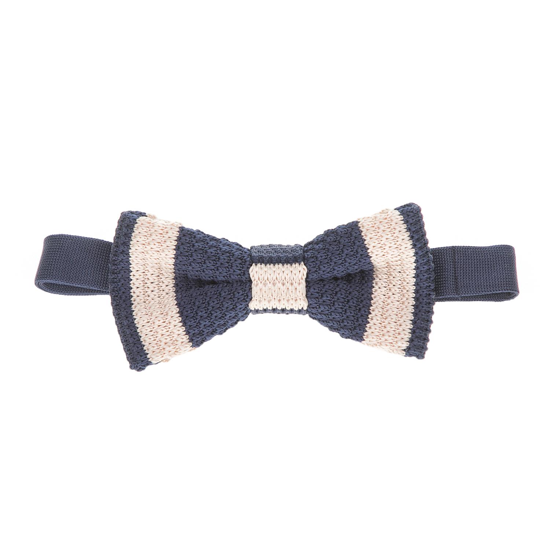 SSEINSE - Ανδρικό πλεκτό παπιγιόν Sseinse μπλε - μπεζ ανδρικά αξεσουάρ γραβάτες παπιγιόν