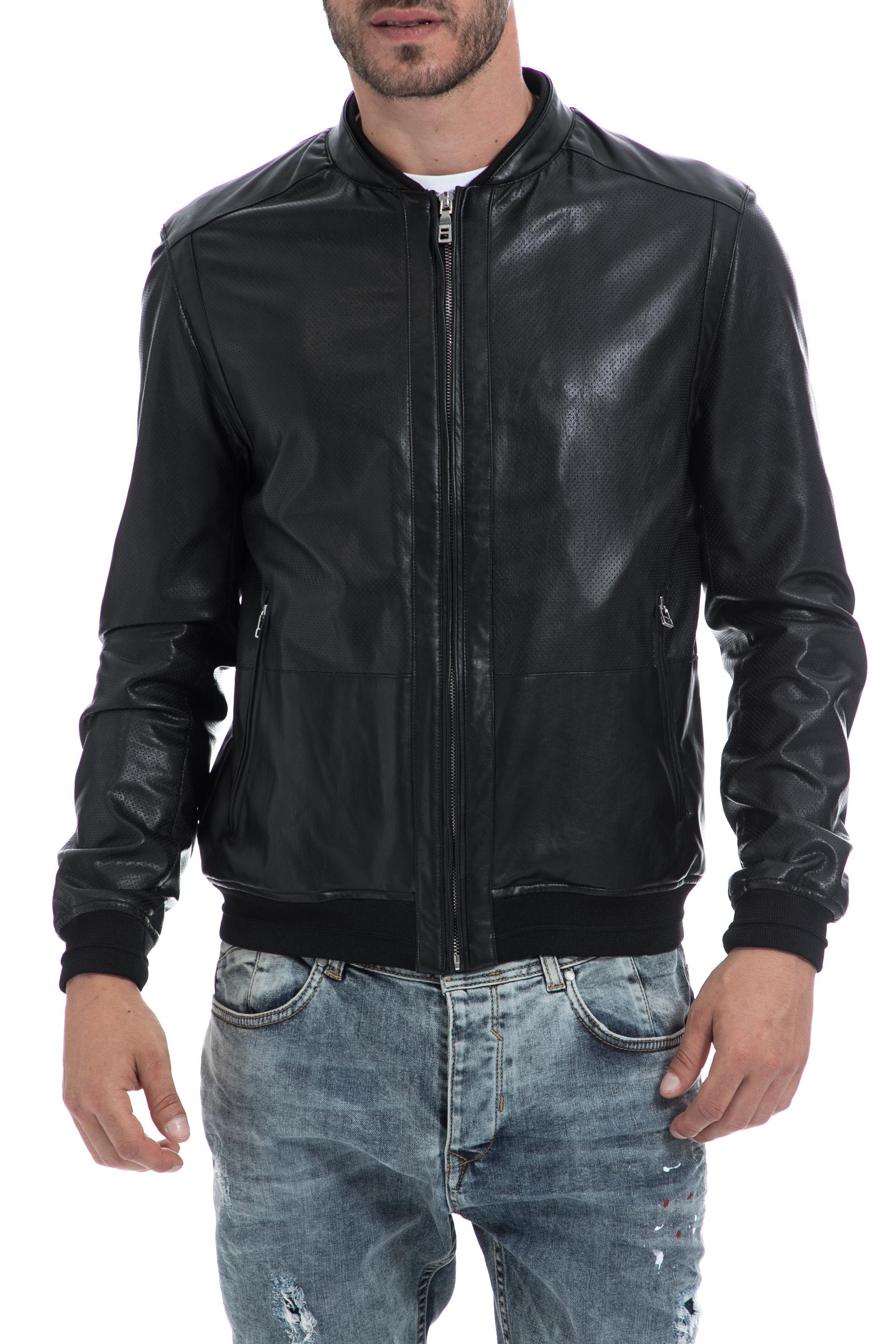 SSEINSE - Ανδρικό τζάκετ SSEINSE μαύρο ανδρικά ρούχα πανωφόρια τζάκετς