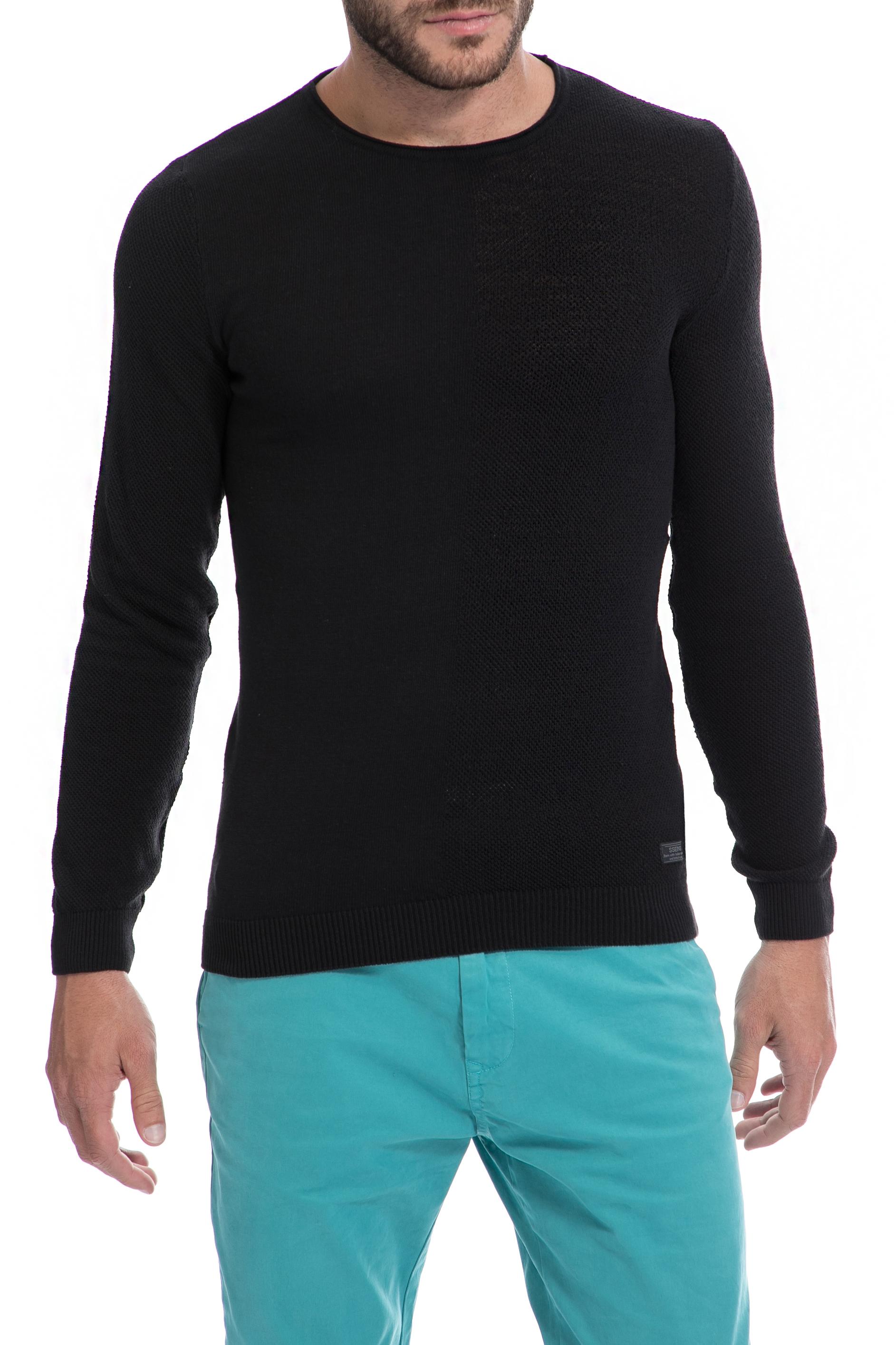 SSEINSE - Ανδρικό πουλόβερ SSEINSE μαύρο ανδρικά ρούχα πλεκτά ζακέτες μπλούζες