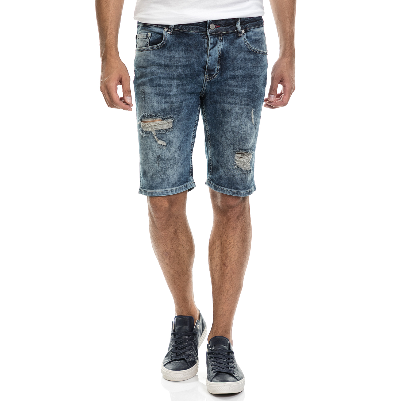 SSEINSE - Αντρική βερμούδα BERMUDA JEANS SSEINSE μπλε ανδρικά ρούχα τζίν βερμούδες σόρτς