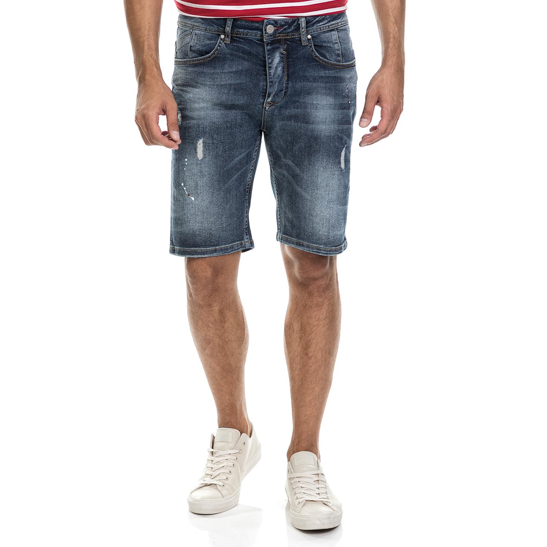SSEINSE - Ανδρική βερμούδα BERMUDA JEANS SSEINSE μπλε ανδρικά ρούχα σορτς βερμούδες casual jean