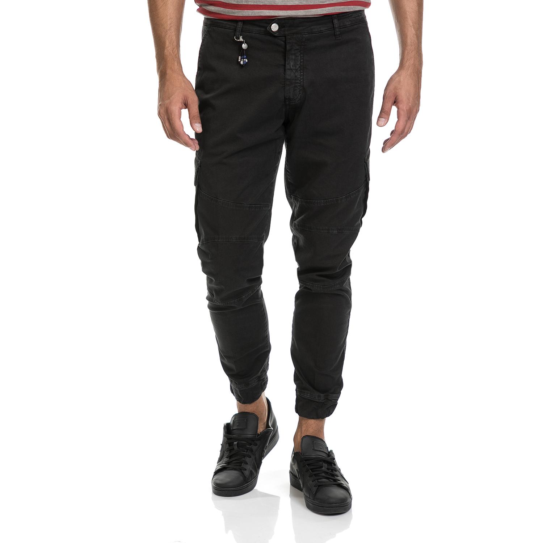 SSEINSE - Ανδρικό παντελόνι CARGO SSEINSE μαύρο ανδρικά ρούχα παντελόνια cargo