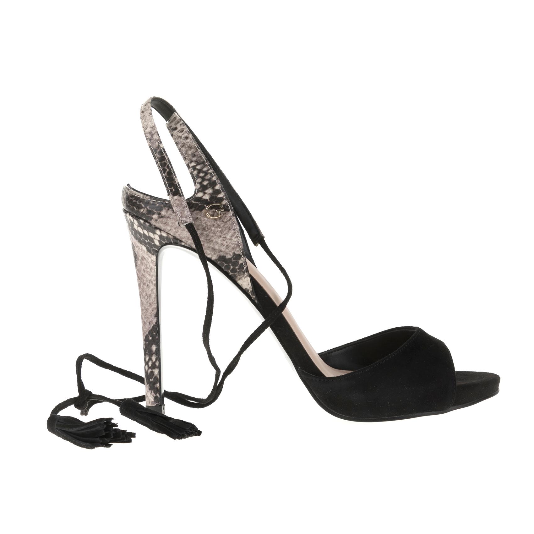GUESS - Γυναικεία πέδιλα GUESS μαύρα - IFY Shoes e2631c6bc82