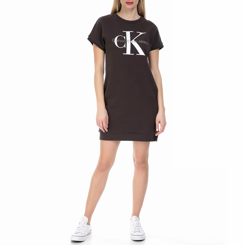CALVIN KLEIN JEANS - Γυναικείο μίνι φόρεμα TRUE ICON Calvin Klein Jeans μαύρο γυναικεία ρούχα φορέματα μίνι