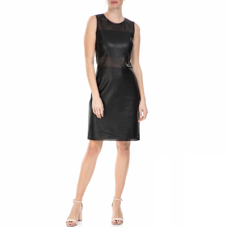 CALVIN KLEIN JEANS - Γυναικείο μίνι αμάνικο φόρεμα Calvin Klein Jeans μαύρο γυναικεία ρούχα φορέματα μίνι