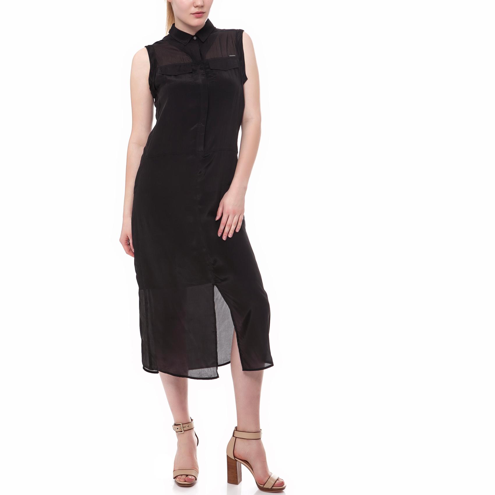 CALVIN KLEIN JEANS - Γυναικείο φόρεμα Calvin Klein Jeans μαύρο γυναικεία ρούχα φορέματα μέχρι το γόνατο