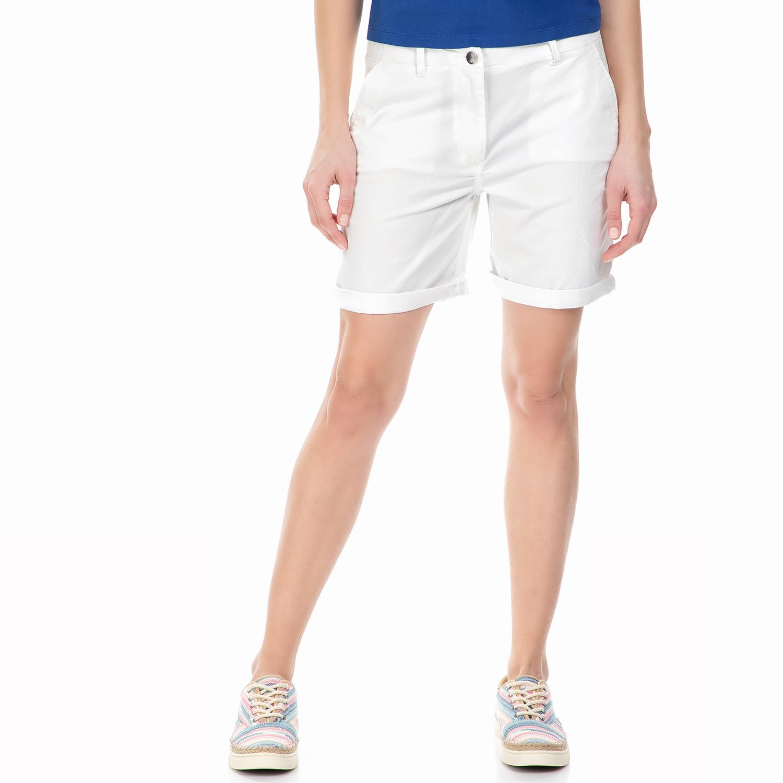 CALVIN KLEIN JEANS - Γυναικεία chino βερμούδα Calvin Klein Jeans λευκή γυναικεία ρούχα σορτς βερμούδες casual jean