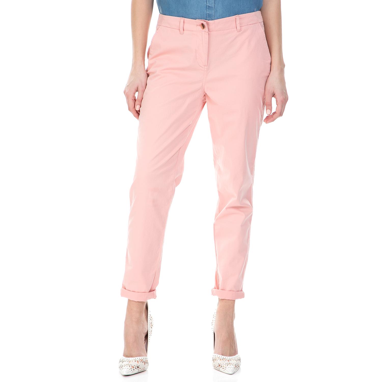 CALVIN KLEIN JEANS - Γυναικείο chino παντελόνι Calvin Klein Jeans ροζ γυναικεία ρούχα παντελόνια chinos