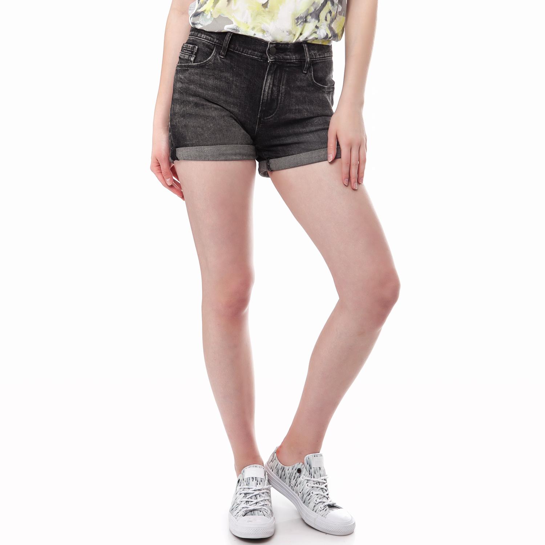 CALVIN KLEIN JEANS - Γυναικείο τζιν σορτς Calvin Klein Jeans μαύρο-γκρι γυναικεία ρούχα σορτς βερμούδες casual jean