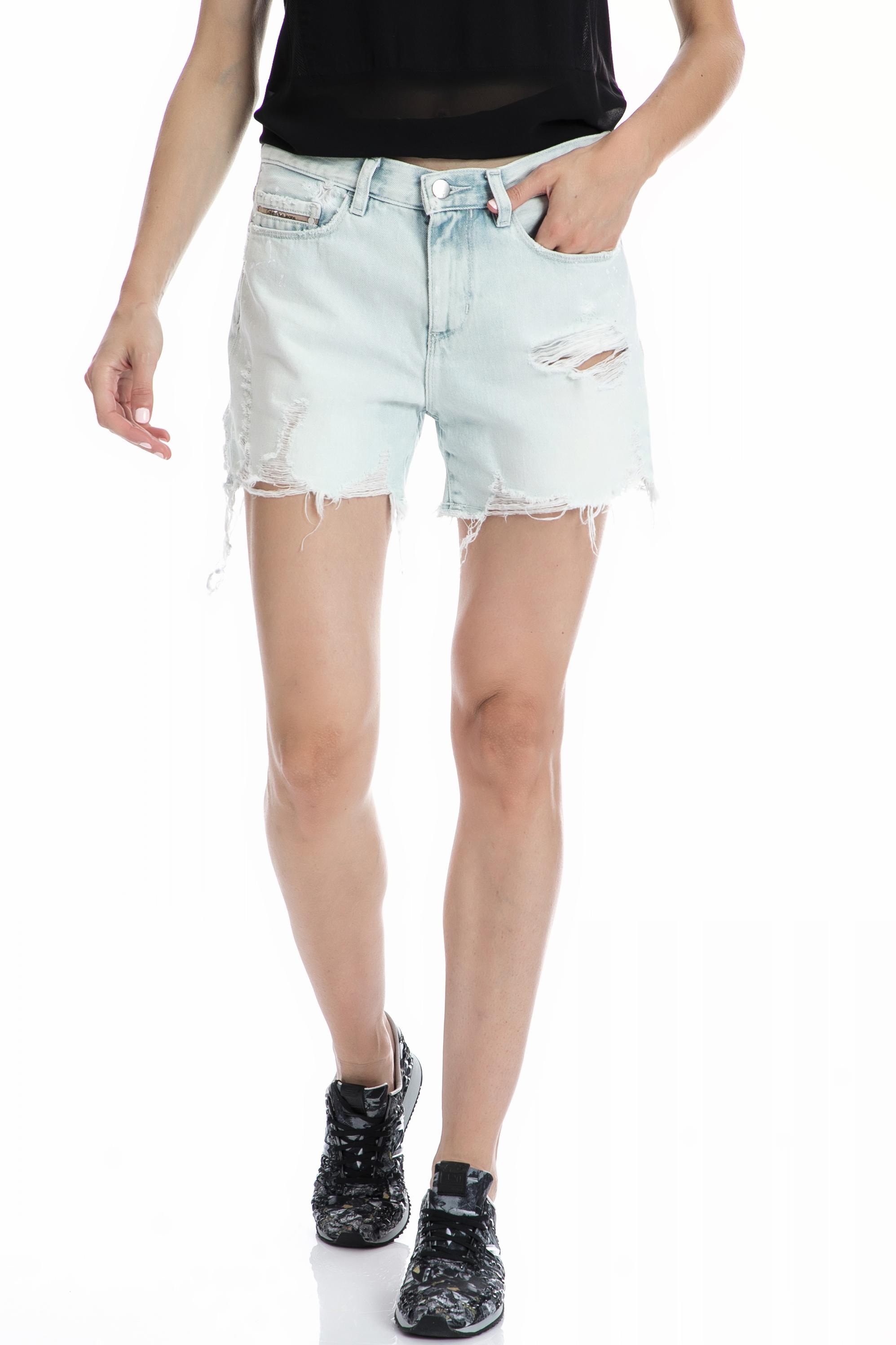 CALVIN KLEIN JEANS - Γυναικείο σορτς CALVIN KLEIN JEANS μπλε γυναικεία ρούχα σορτς βερμούδες casual jean