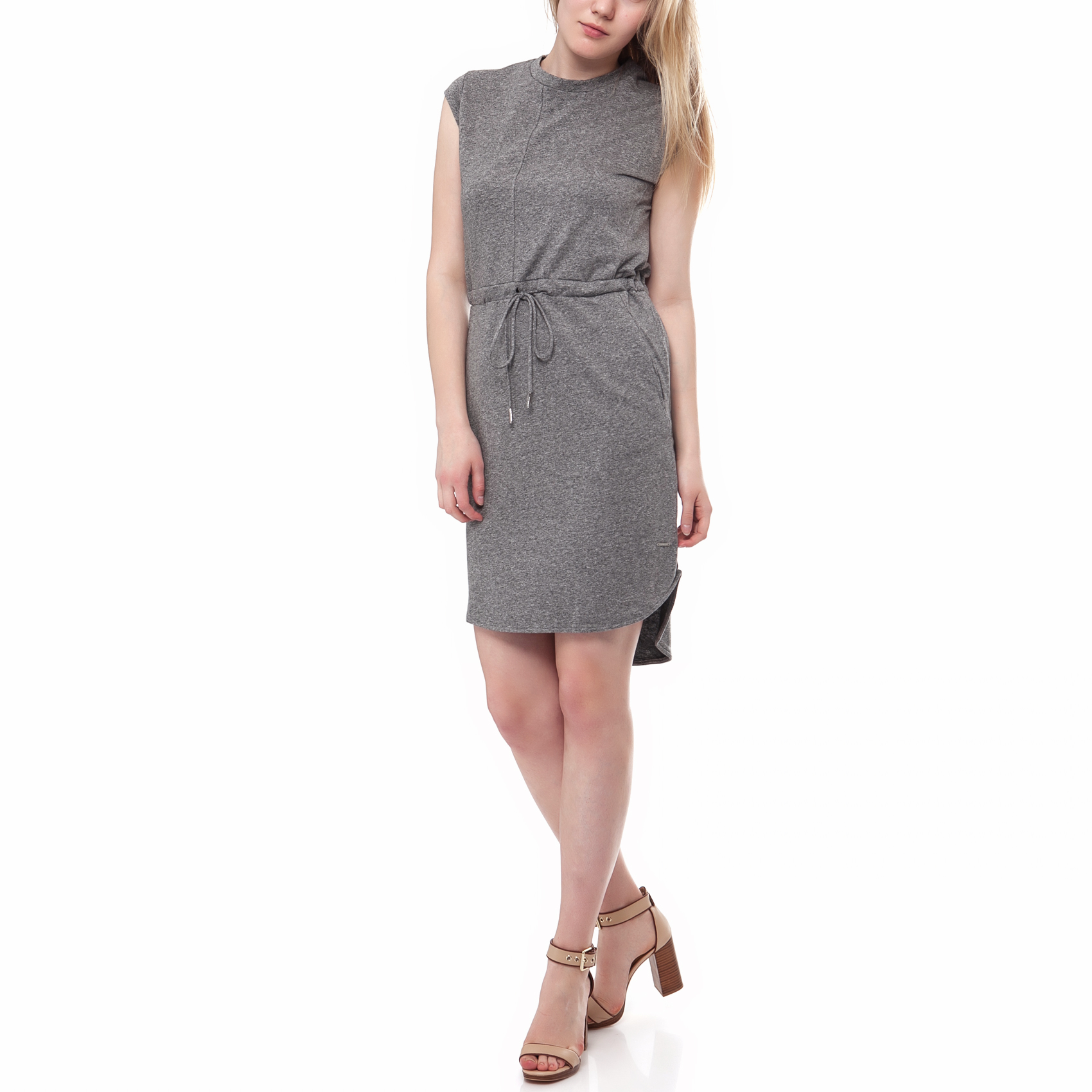 CALVIN KLEIN JEANS - Γυναικείο φόρεμα Calvin Klein Jeans γκρι γυναικεία ρούχα φορέματα μίνι