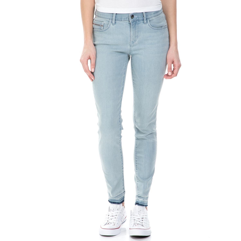 CALVIN KLEIN JEANS - Γυναικείο mid rise τζιν παντελόνι Calvin Klein Jeans γαλάζι γυναικεία ρούχα παντελόνια skinny