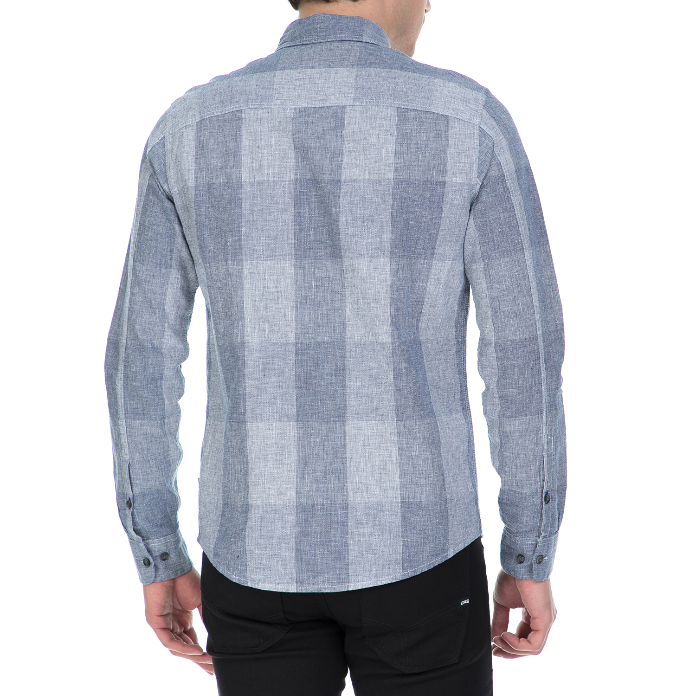 CALVIN KLEIN JEANS - Ανδρικό μακρυμάνικο καρό πουκάμισο Calvin Klein Jeans  μπλε 9c48f10c2bf