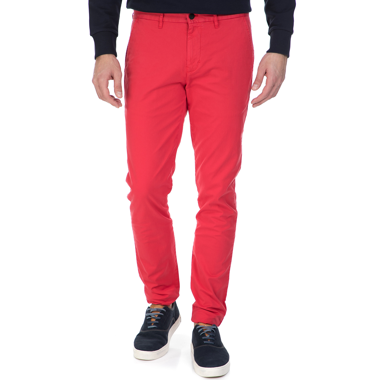 CALVIN KLEIN JEANS - Ανδρικό παντελόνι HAYDEN SP17 Calvin Klein Jeans κόκκινο ανδρικά ρούχα παντελόνια chinos