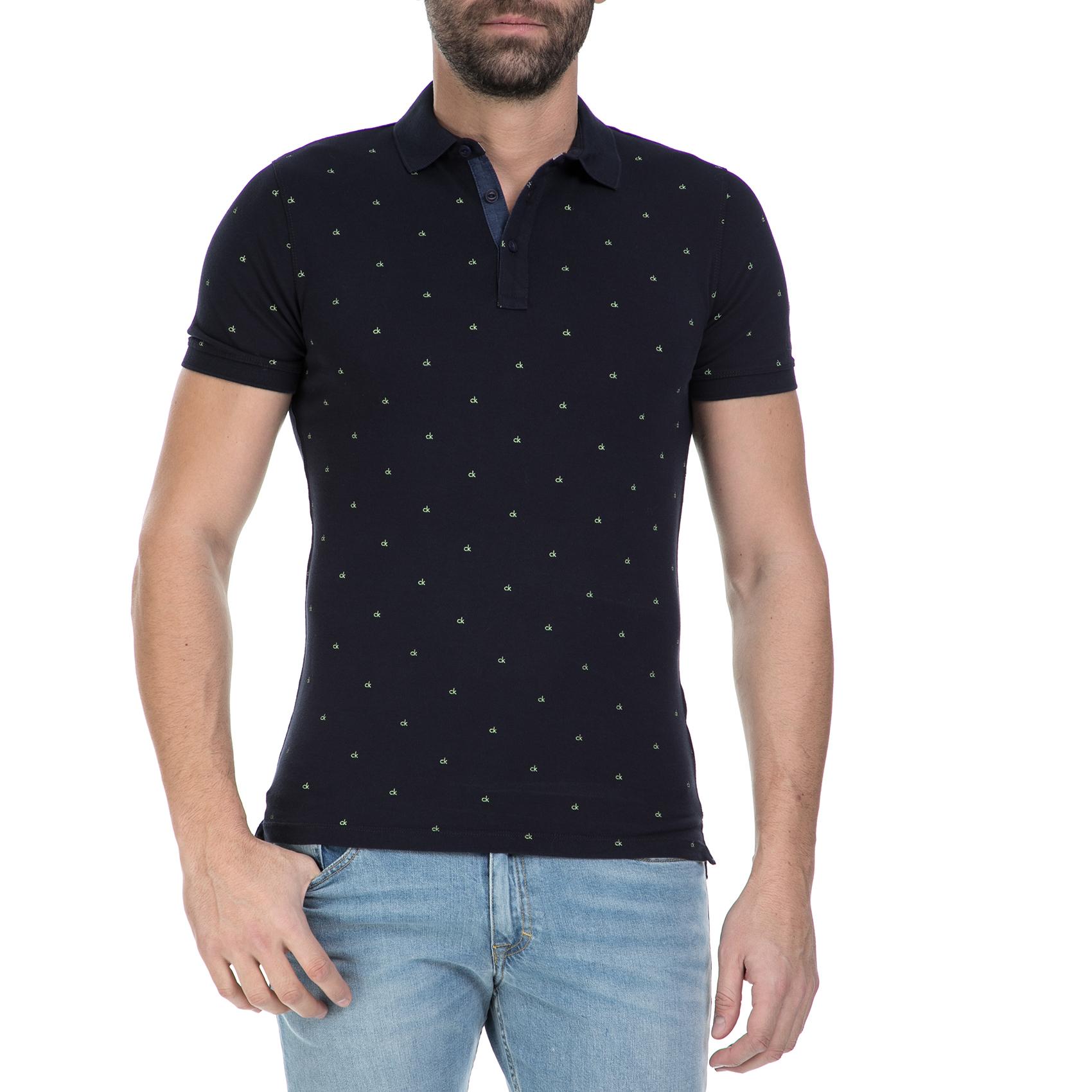 CALVIN KLEIN JEANS - Ανδρική κοντομάνικη μπλούζα polο Calvin Klein Jeans  μπλε c805170c3a0