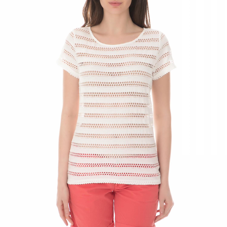 3ddaa1b8e993 GARCIA JEANS - Γυναικεία κοντομάνικη μπλούζα GARCIA JEANS λευκή