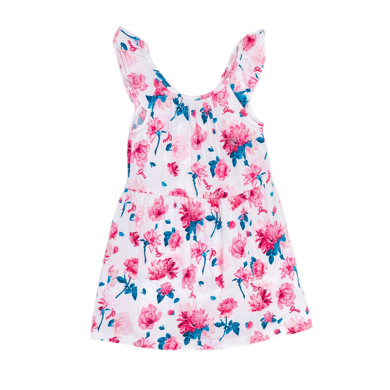 GUESS KIDS - Παιδικό φόρεμα GUESS KIDS εμπριμέ παιδικά girls ρούχα φορέματα