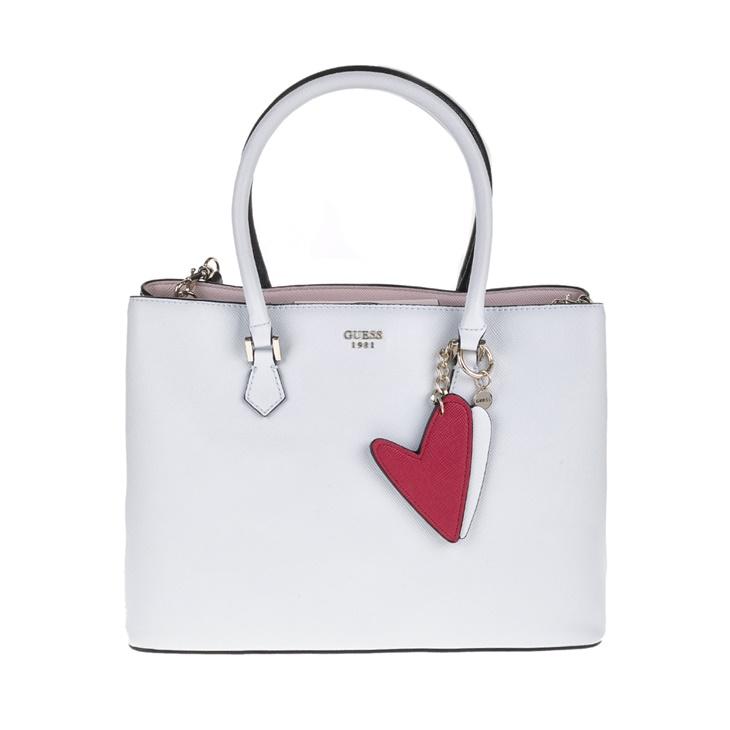 8df6915ad8 Γυναικεία τσάντα GUESS PIN UP POP Shopper λευκή-ροζ (1525855.0-0091 ...
