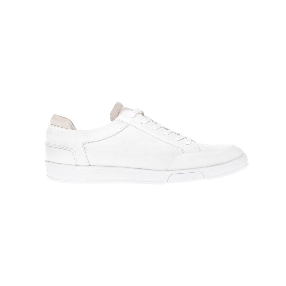 CALVIN KLEIN JEANS – Ανδρικά παπούτσια CALVIN KLEIN JEANS άσπρα