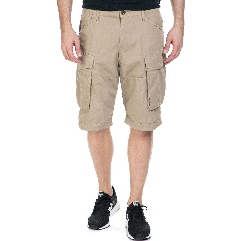 G-STAR RAW - Ανδρική βερμούδα G-Star Raw Rovic loose 1/2 μπεζ ανδρικά ρούχα σορτς βερμούδες casual jean