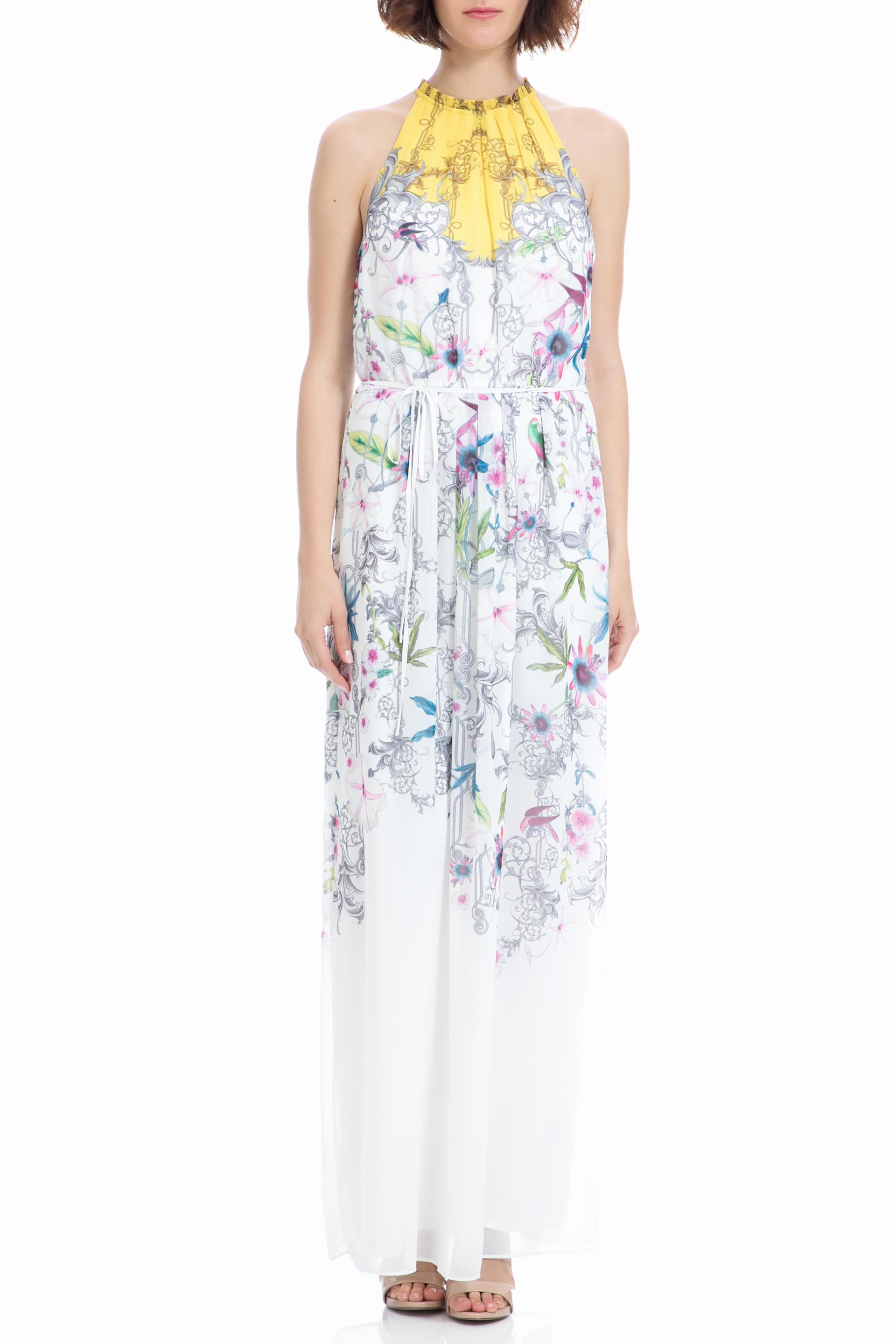TED BAKER - Μάξι φόρεμα TED BAKER λευκό γυναικεία ρούχα φορέματα μάξι