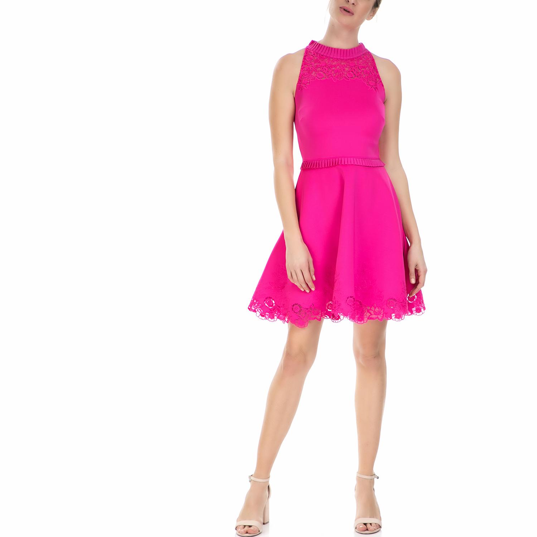 TED BAKER - Γυναικείο αμάνικο φόρεμα με δαντέλα Ted Baker φούξια γυναικεία ρούχα φορέματα μίνι