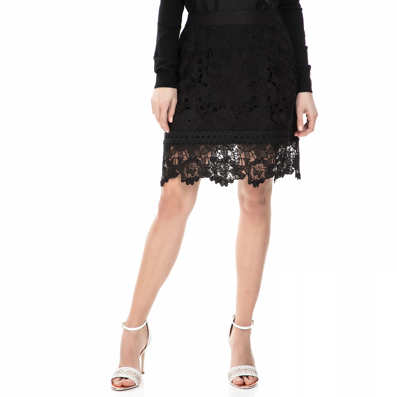 TED BAKER - Μίνι φούστα Ted Baker μαύρη από δαντέλα γυναικεία ρούχα φούστες μίνι
