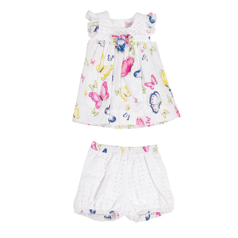 MONNALISA – Κοριτσίστικο σετ φόρεμα-σορτς MONNALISA με πεταλούδες